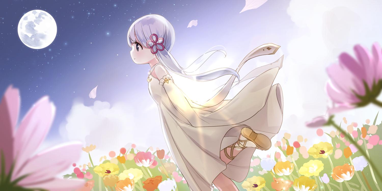 つくよみちゃんイラスト素材(えみゃコーラ様) 花畑